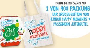 Kinder Happy Moments Pakete gewinnen