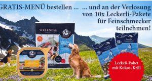 Leckerli-Überraschungspakete von Dinner for Dogs gewinnen