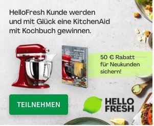 Hello Fresh: KitchenAid mit Kochbuch gewinnen