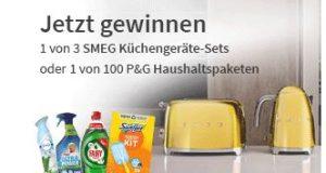 SMEG Küchengeräte und P&G Haushaltpakete zu gewinnen